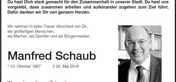 Manfred Schaub, Baunatal, Stadtmarketing Baunatal