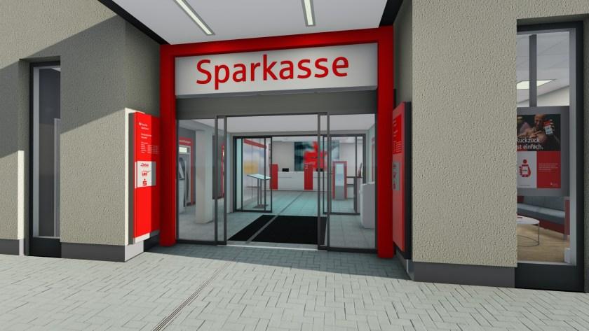 Baunatal, Kasseler Sparkasse, Marktplatz Baunatal