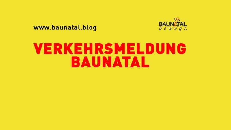 Verkehrsmeldung Baunatal – Sperrungen Baunsbergstraße, Birkenallee und Lindenallee