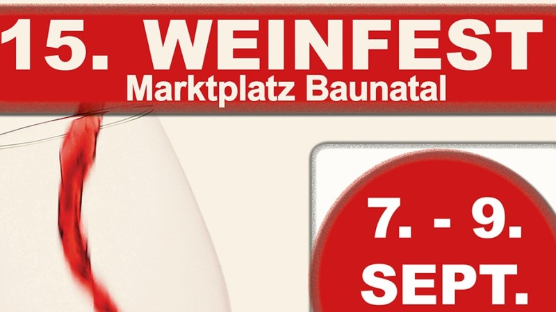 15. Weinfest in Baunatals City
