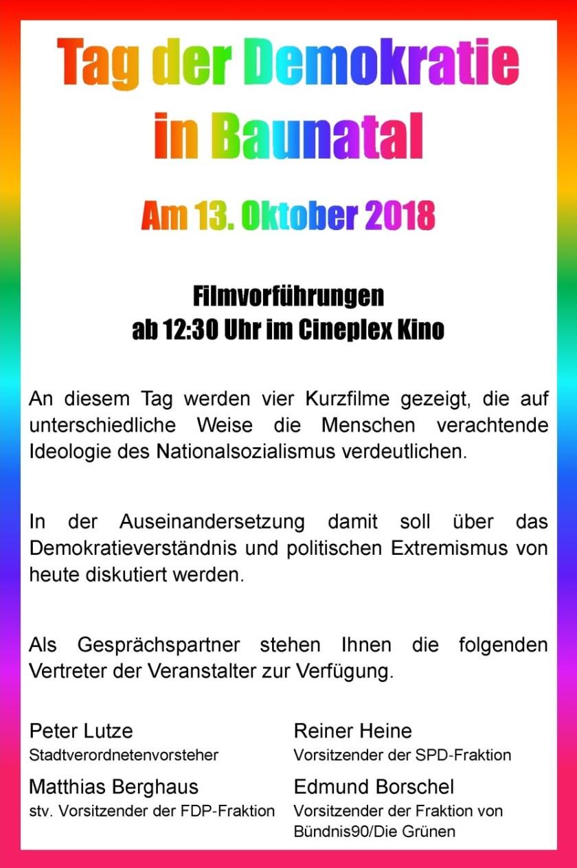 Tag der Demokratie Baunatal, Baunatal, 13.10.2018