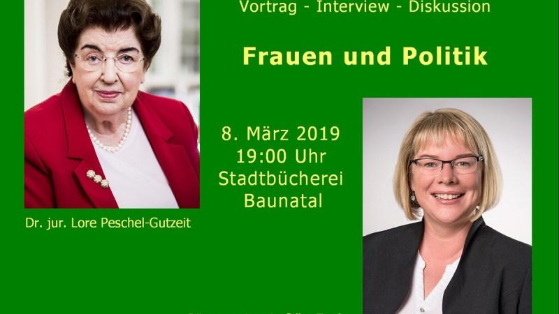 Frauen und Politik – Veranstaltung zum int. Frauentag in Baunatal
