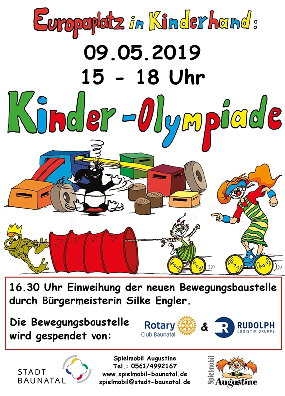 Spielmobil Augustine, Baunatal, Kinder-olympiade