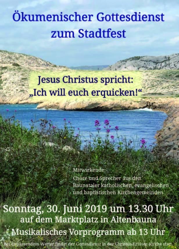 Stadtfest Baunatal, Baunatal, Programm Sonntag, 30.6.2019, Sonntag - Stadtfest Baunatal 2019