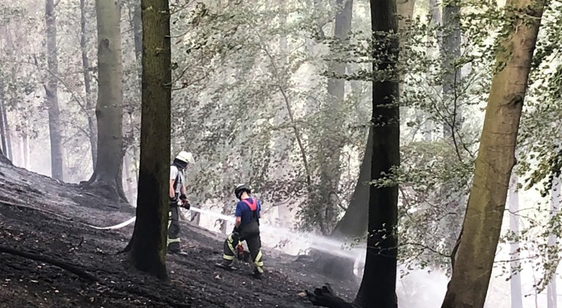 Waldbrandgefahr, freiwillige Feuerwehr Baunatal