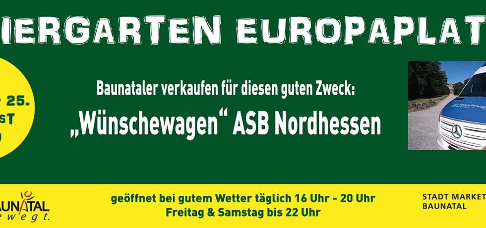 Baunatal, Stadtmarketing Baunatal, Biergarten Europaplatz, Wünschewagen ASB Nordhessen