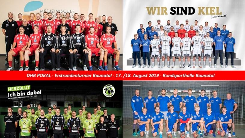 DHB Pokal 2019, GSV Eintracht Baunatal, THW Kiel, TV Emsdetten, Dessauer HV, Baunatal, Sport in Baunatal, Baunatal, Baunagram, BaunatalimPokalfieber