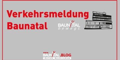 Baunatal, Kreis Kassel, Nordhessen, Verkehrsmeldung, Verkehrsbehinderung
