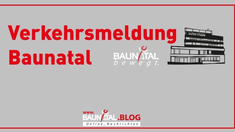 Verkehrsmitteilung – Baunsbergstraße im Bereich Am Sonnenhang ab 2.12. gesperrt