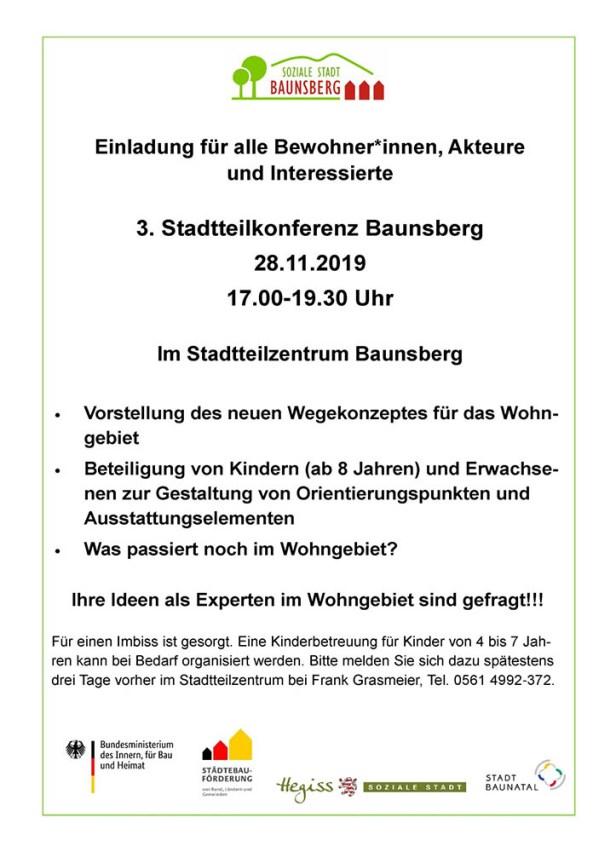 Wohngebiet Baunsberg, Soziale Stadt, Baunatal, Nordhessen, Stadtteilkonferenz Baunsberg, Bürgerbeteiligung, Hessen