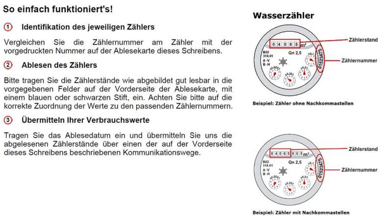 Wasserzähler, Baunatal, Ablesung, 2019, Stadtwerke Bauantal