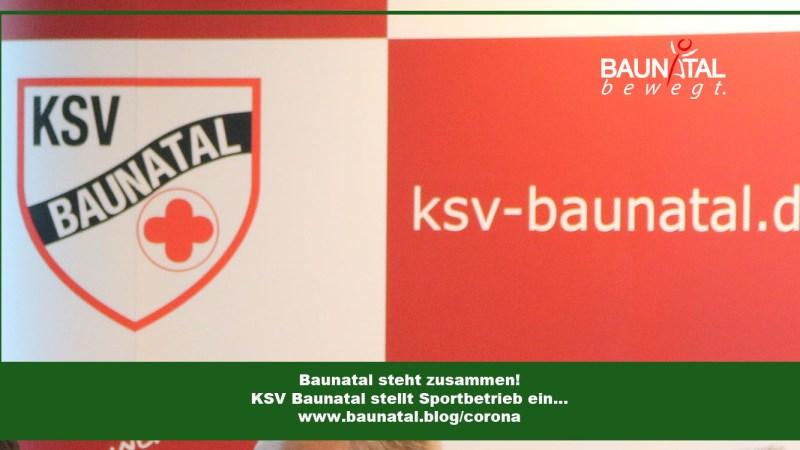 KSV Baunatal stellt Sportbetrieb ein!
