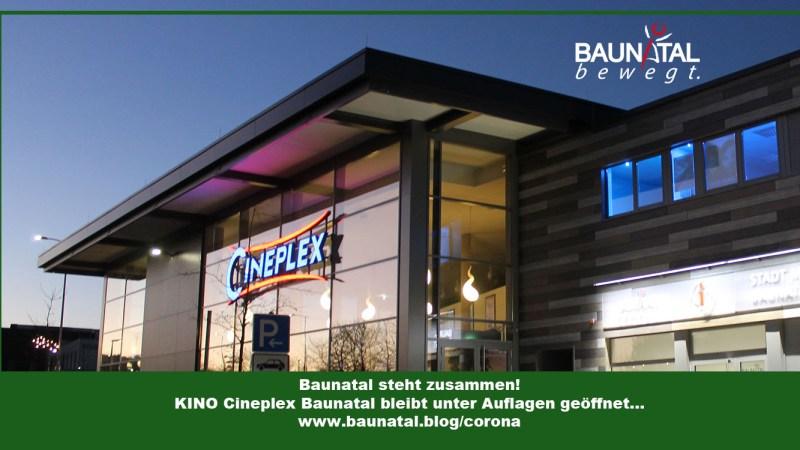 CINEPLEX BAUNATAL bleibt geöffnet