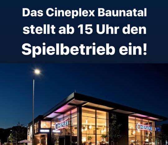 Cineplex Baunatal, Corona