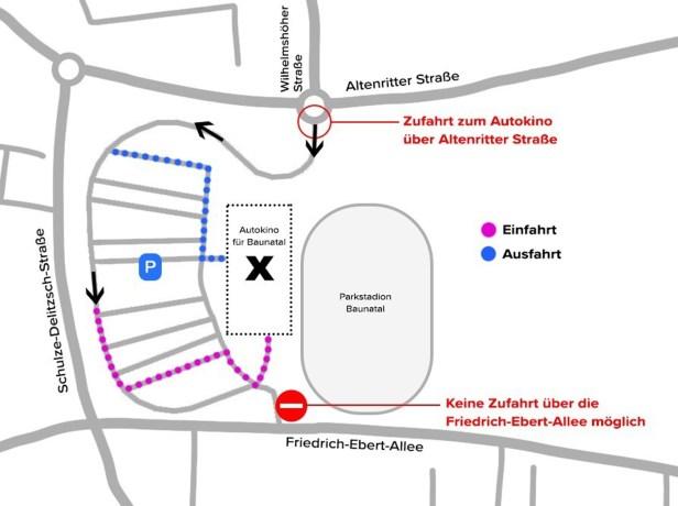 Autokino, Baunatal. Landkreis Kassel, Nordhessen, Cineplex Baunatal, Stadtmarketing, Baunagram
