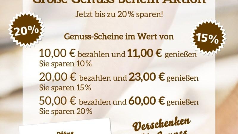Jetzt den Handwerksbäcker Döhne unterstützen und gleichzeitig kräftig sparen!