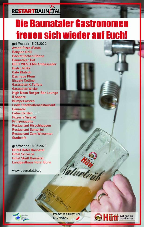 Baunatal, Restaurant, Kneipe, Cafe, Gastronomie, Gastronomen, restartbaunatal
