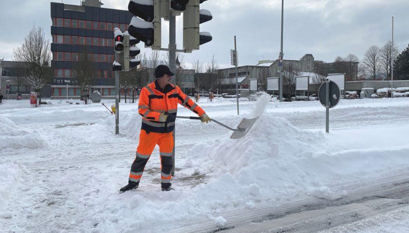 Baunatal, Schneefall, Winterdienst