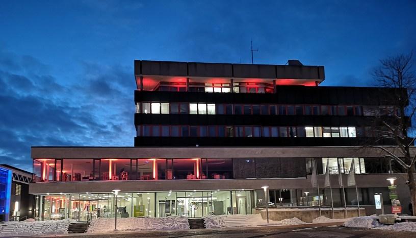 Baunatal, Lichtfenster, Lichter Rathaus, Leuchten