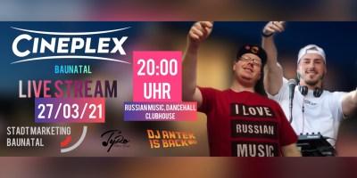 Livestream, Baunatal, Stadtmarketing, DJ TyRo, DJ Antek, Cineplex Baunatal, Stadtmarketing Baunatal