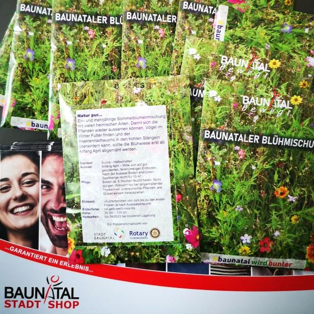 StadtShop Baunatal, Baunataler Blühmischung, Baunatal, Rotary Club Baunatal, Blumen, Blühmischung, Stadt Baunatal,