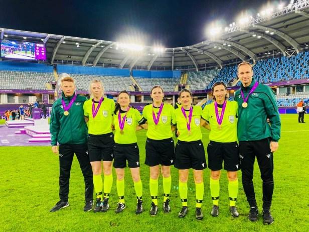 UEFA Champions Leaque Finale, 2021, Olympia, Tokio, Baunatal Blog,Christian Dingert, Julia Magnusson, Sara Telek, Katalin Kulcsar, Riem Hussein, Katrin Rafalski, Bastian Dankert