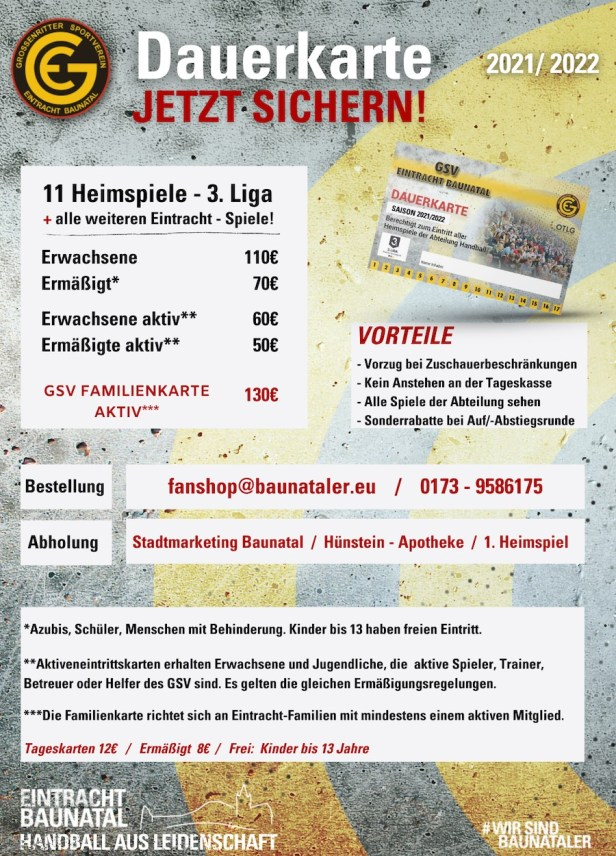 Handball, Baunatal, 3. Liga, GSV EIntracht Baunatal