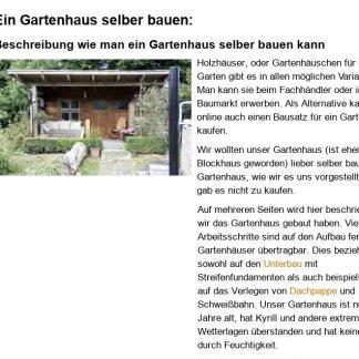 Gartenhaus selbstgebaut
