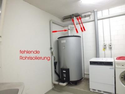 Energiekosten Haus sparen & Energiesparen durch Rohre der Heizung komplett besser dämmen bei fehlende Rohrisolierung