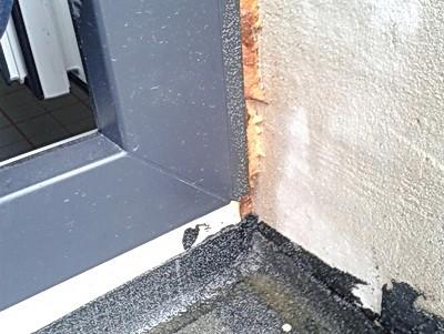 Wohnungen, angeschimmelt, verschimmelt, Haus, Balkon Schimmel bodentiefe Fenster Schimmelpilz franzoesische Fenster Balkon Abdichtung zu niedrig