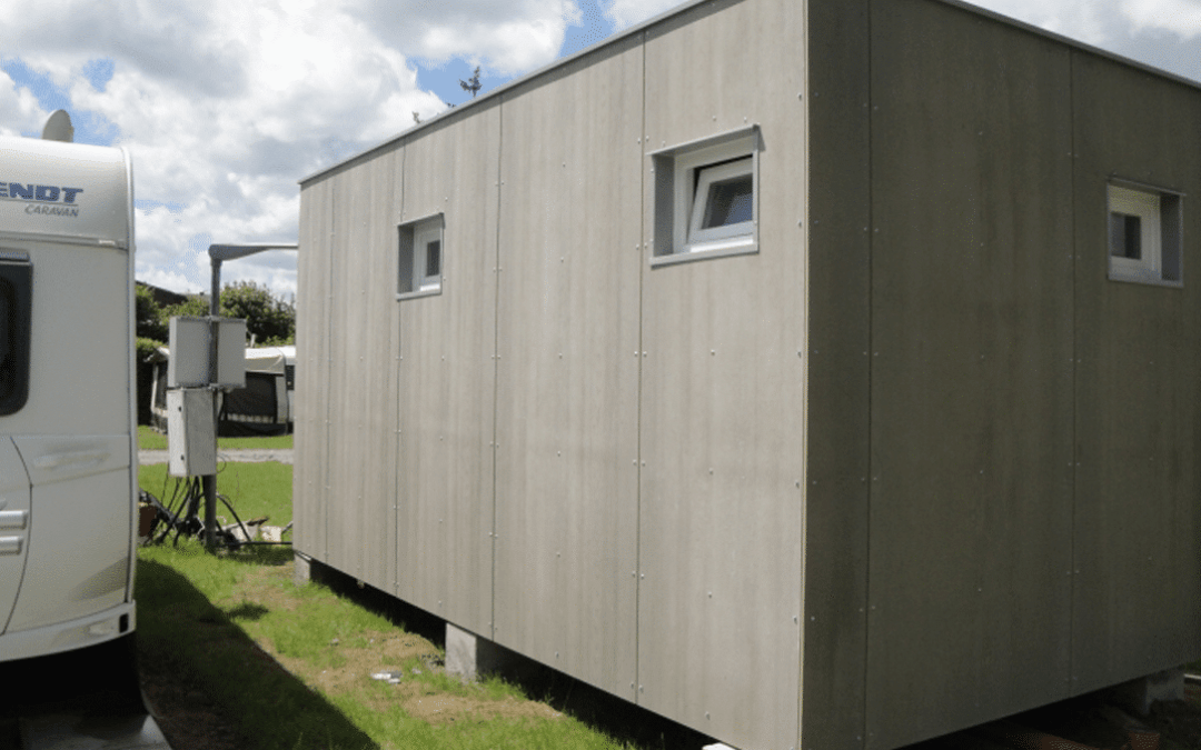 Container Systems – Sanitary unit with Cetris boards