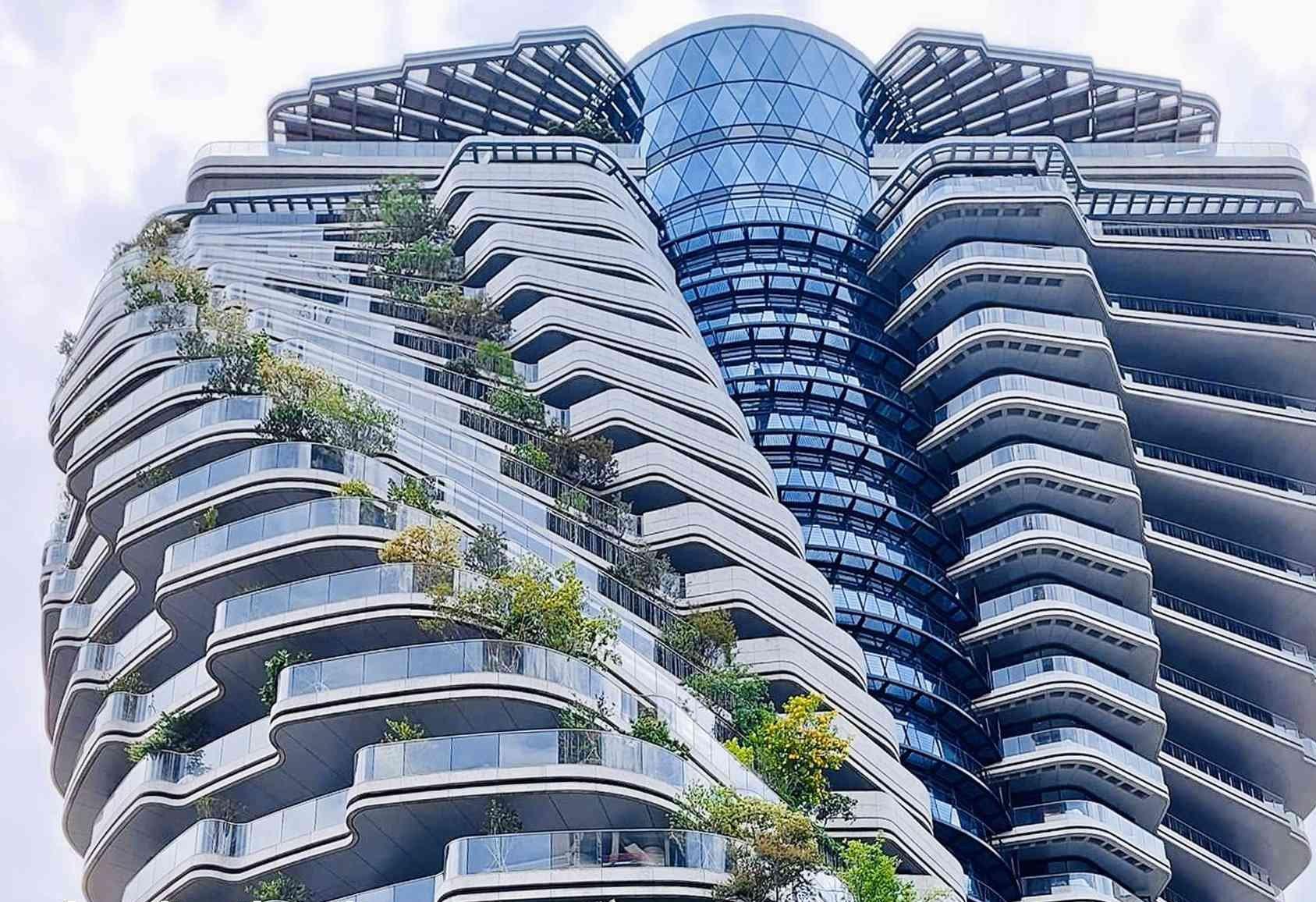 Možete li pretpostaviti što je bila inspiracija za konstrukciju zelenog uvijajućeg nebodera?