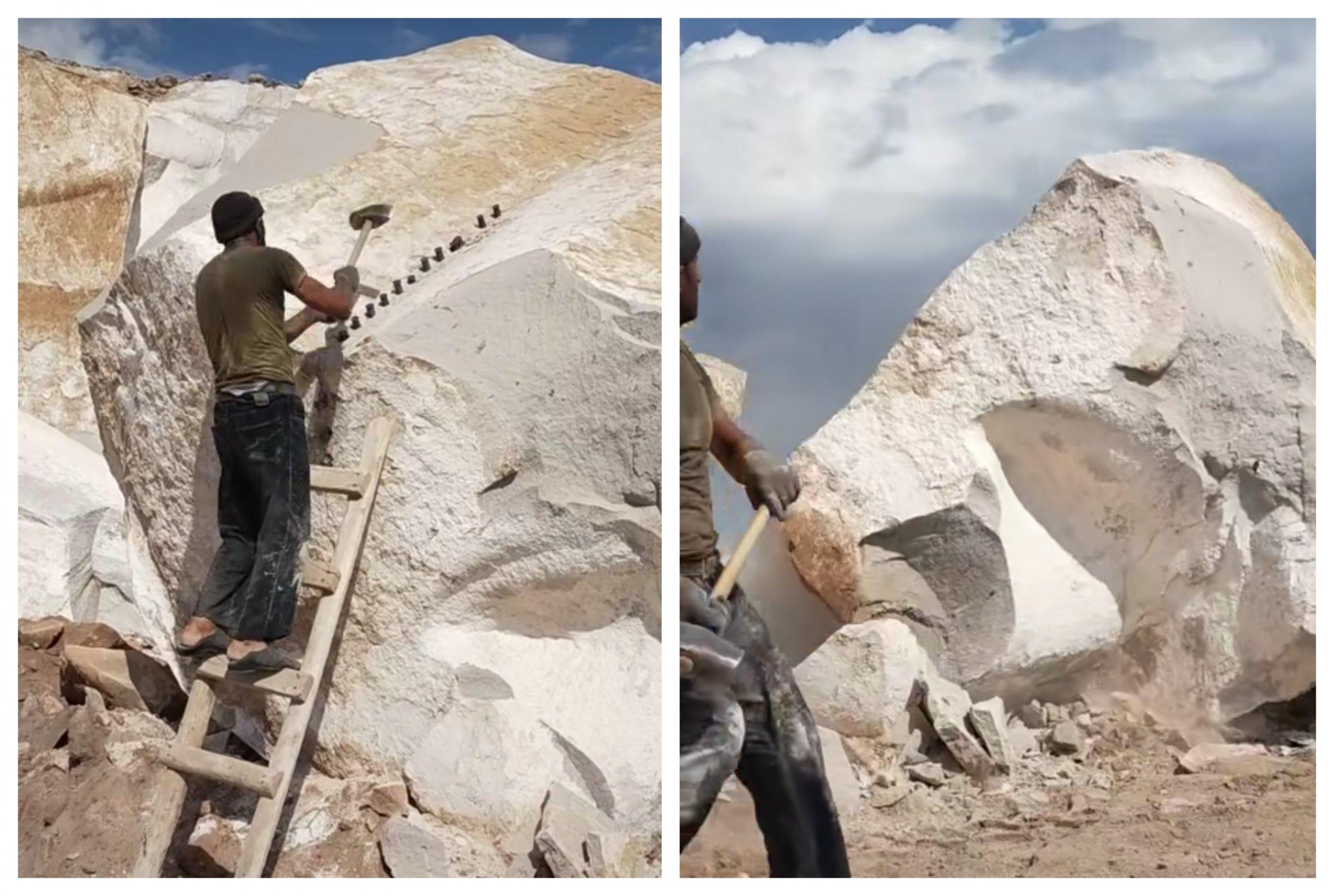 [VIDEO] Kako razbiti kamen na pola s puno pameti i malo znoja