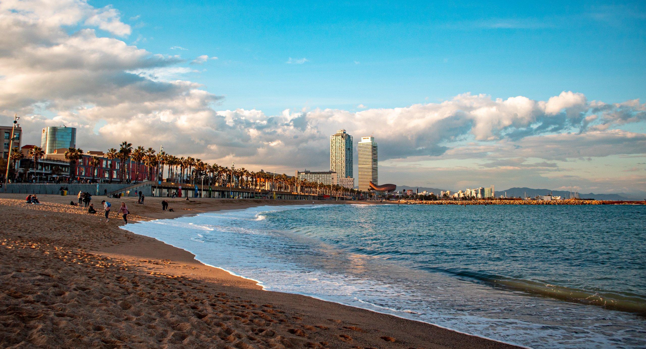 plaža Barcelona