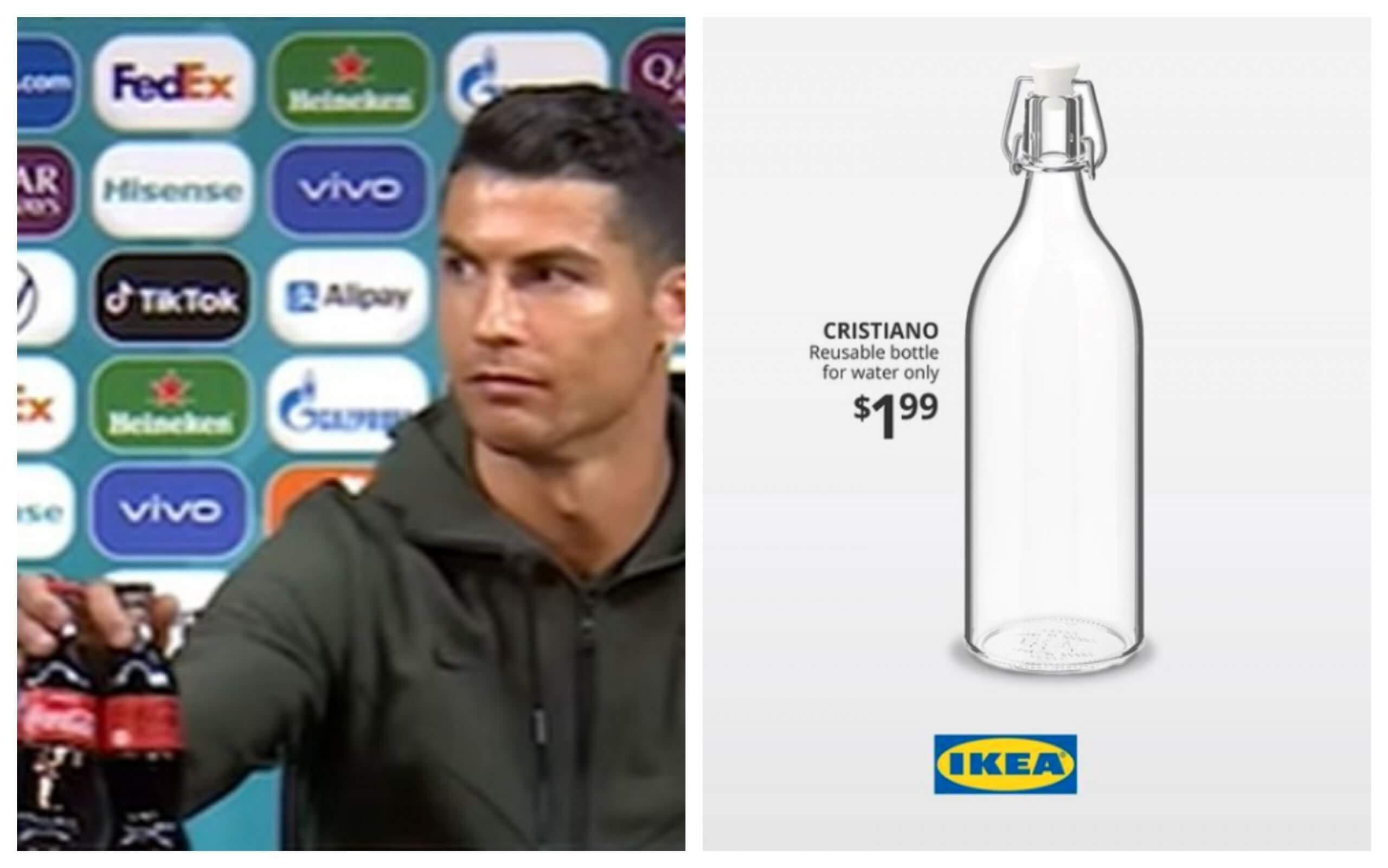 Boca za vodu nikada nije bila popularnija: Ronaldov potez s Coca-Colom utjecao i na IKEA-u