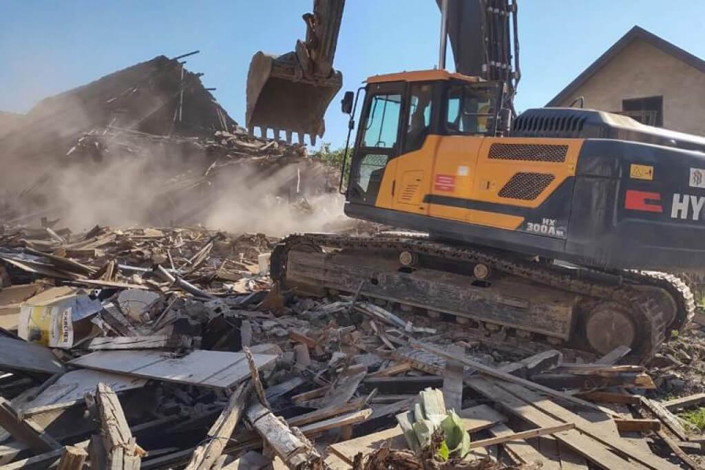 rušenje kuće u petrinji