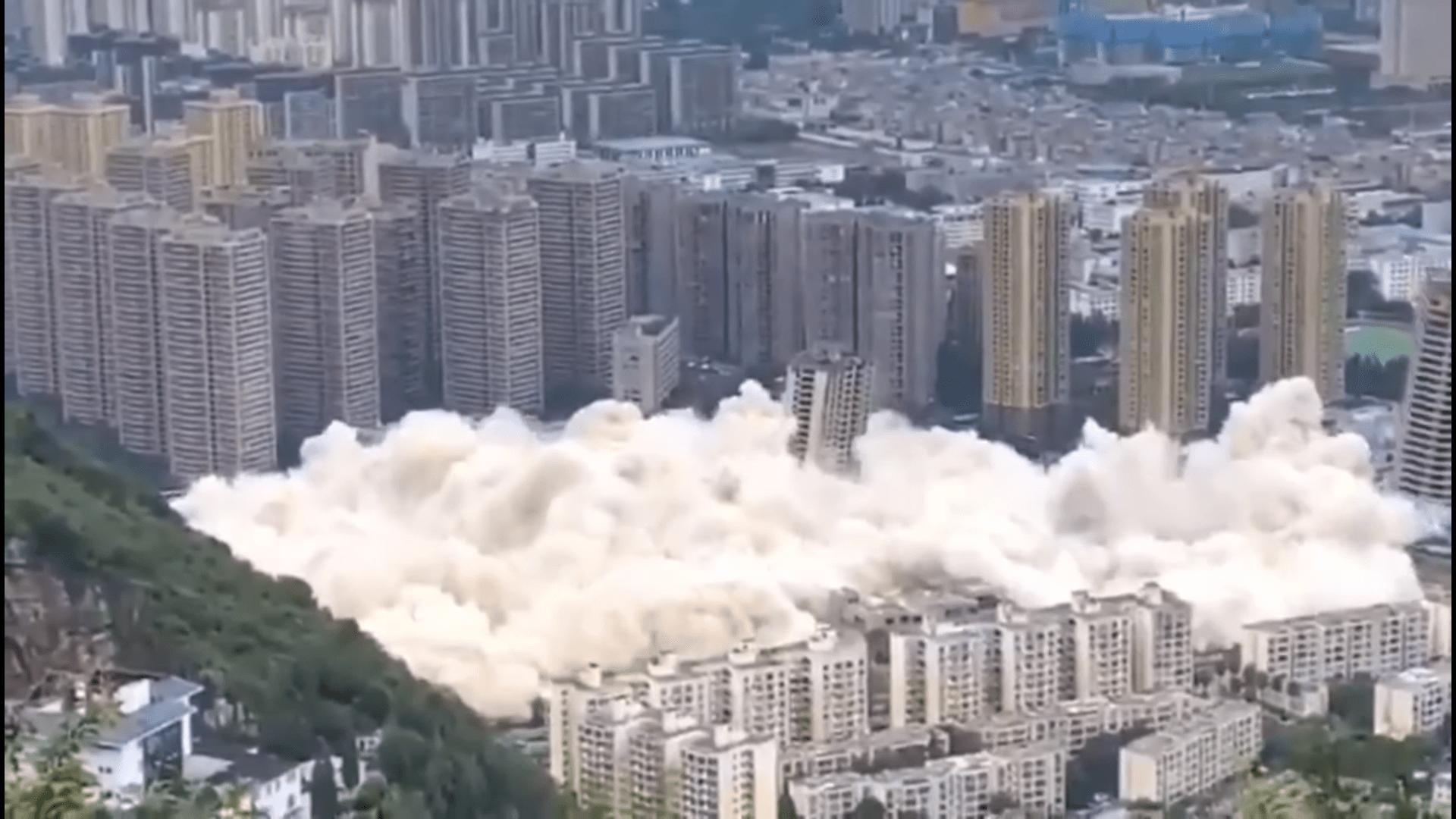 [VIDEO] Pogledajte kako izgleda sinkronizirano rušenje 15 nebodera