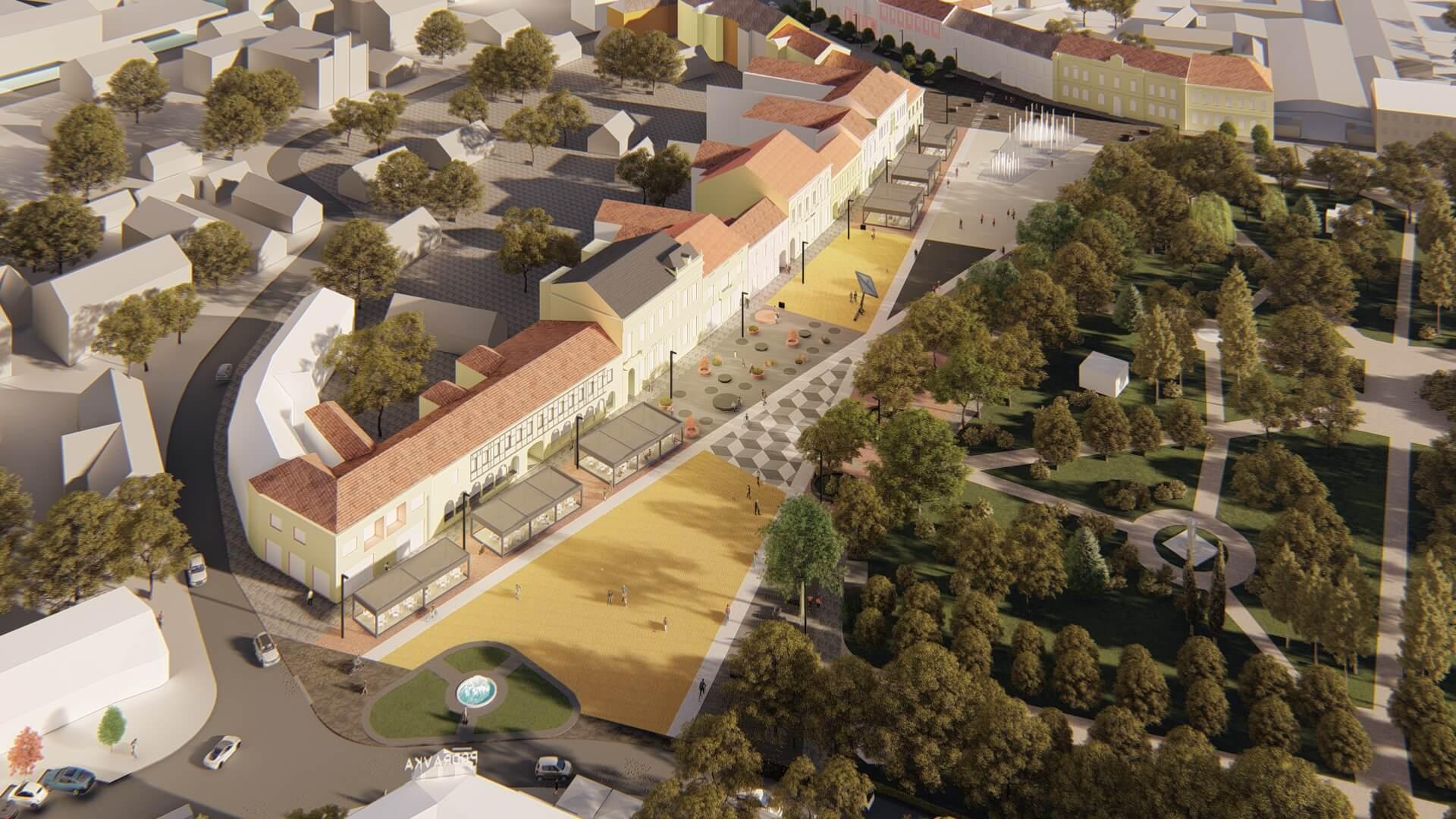 [FOTO] Pogledajte kako će izgledati središte grada na sjeveru zemlje nakon obnove dvaju njegovih trgova