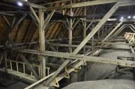 Spätgotisches Dachwerk der Pfarrkirche St. Nikolaus in Hall (Foto: D. Häßler)