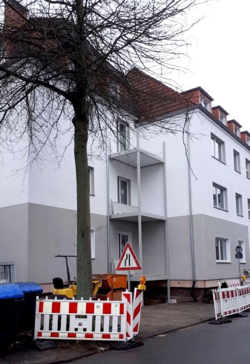 Freier Blick auf die neue Fassade.