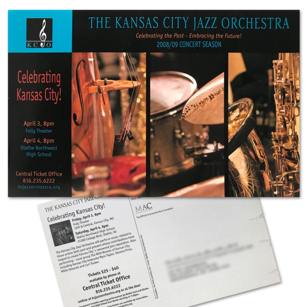 Kansas City Jazz Orchestra Postcard