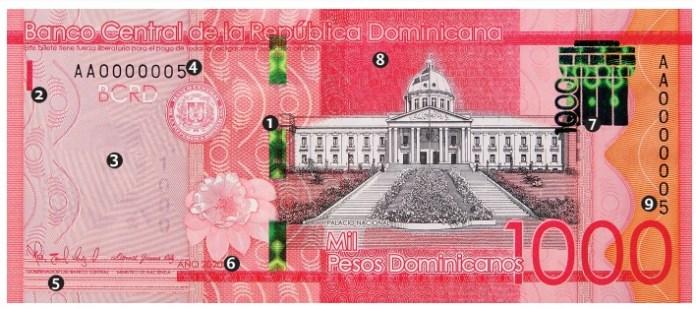 Banco Central emite un nuevo billete de RD$1,000, serie 2020