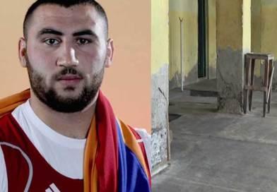 Աշխարհի չեմպիոն Սիմոն Մարտիրոսյանը մարզվում է վթարային շենքում, 80-ականների ծանրաձողերով