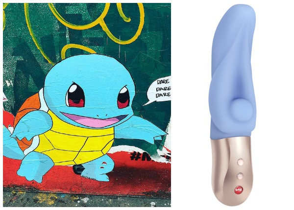 Squirtle Pokemon with blue G-Spot vibrator