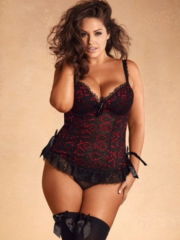 Hips & Curves Midnight Romance Lace Overlay Chemise