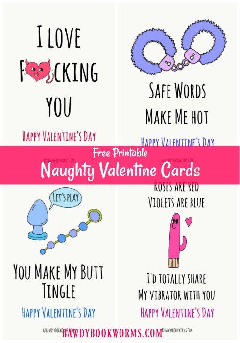 Naughty Valentine Cards collage