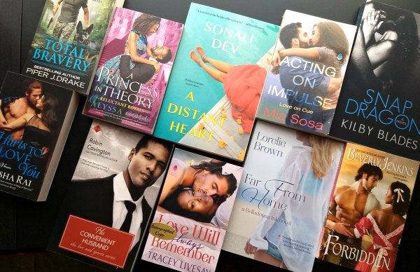 Collection of diverse romance books
