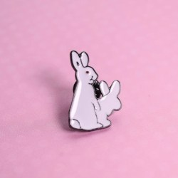 Doing it like bunnies pin