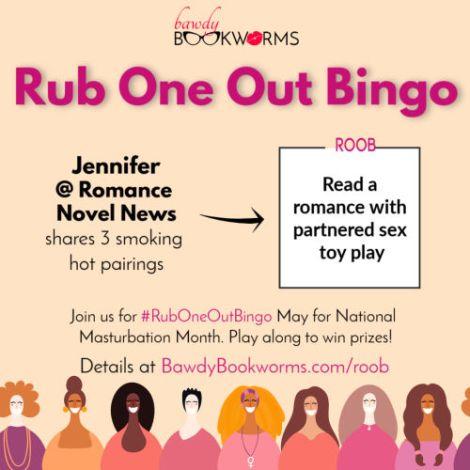 Jennifer of Romance Novel News shares 3 romances with partnered sex toy play
