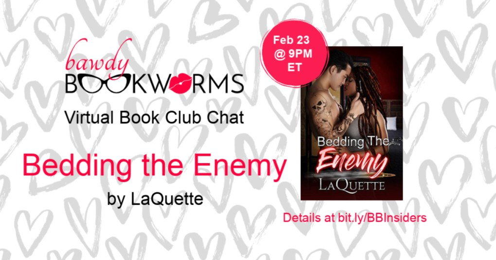 Bedding the Enemy Virtual Book Chat